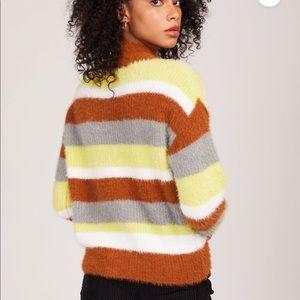 *NWT* Lush Striped Montauk Sweater